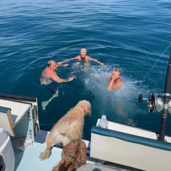 family-swimming